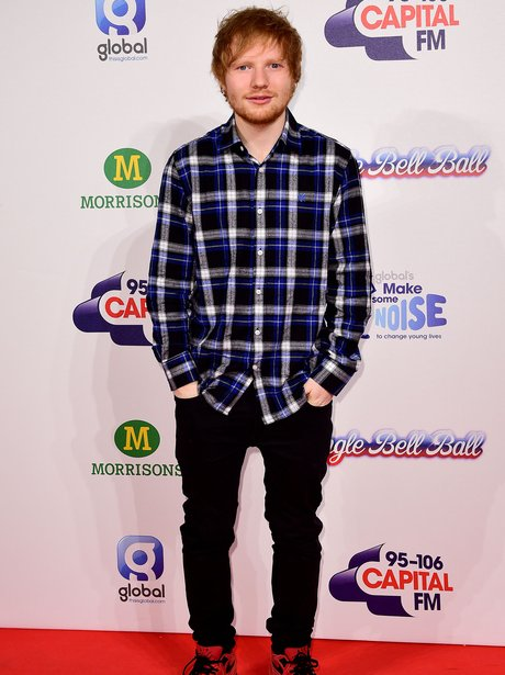 Ed Sheeran Red Carpet Jingle Bell Ball 2014