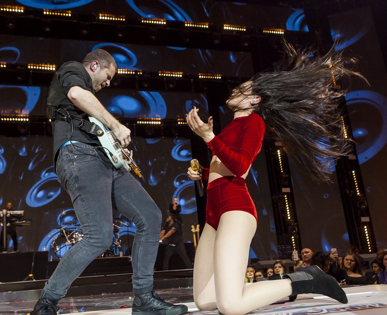 Jessie J at the Jingle Bell Ball 2014