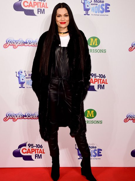 Jessie J Red Carpet at the Jingle Bell Ball 2014