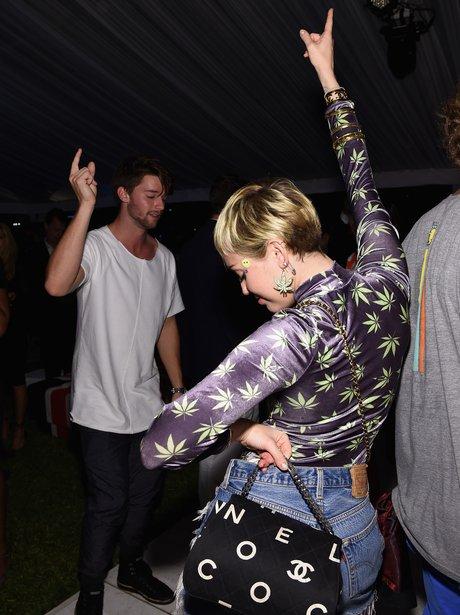 Patrick Schwarzenegger and Miley Cyrus dancing