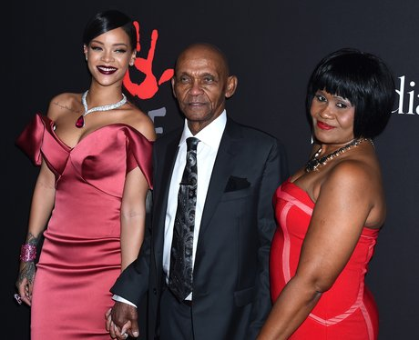 Rihanna with her family