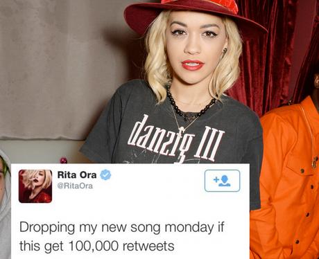 Rita Ora Tweet