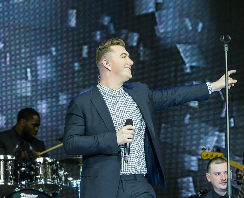 Sam Smith at the Jingle Bell Ball 2014