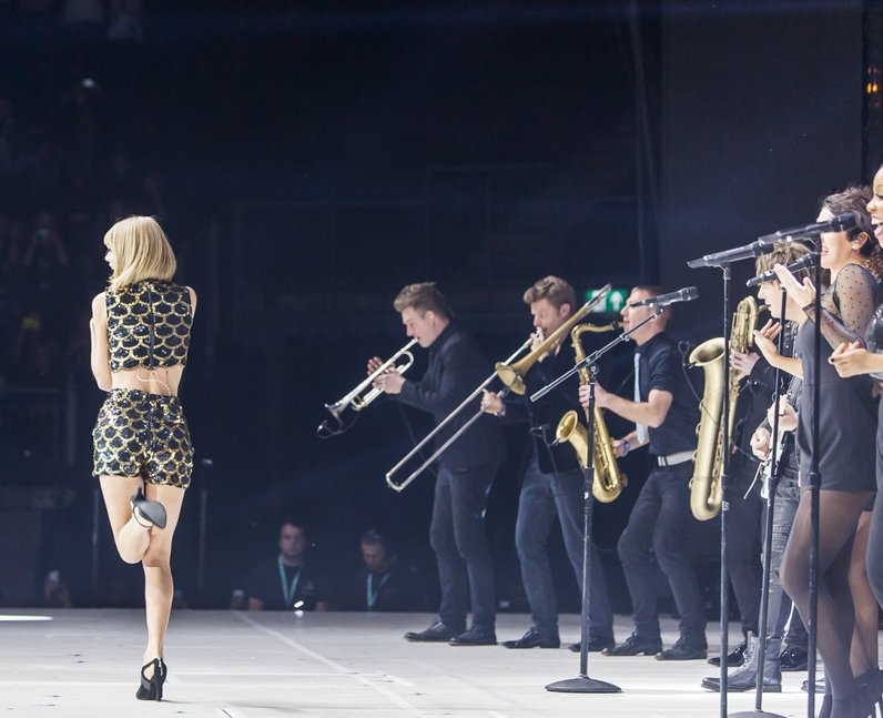Taylor Swift Was Accompanied On Stage By A Live Band Jingle Bell Ball 2014 Capital