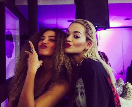 Beyonce with Rita Ora