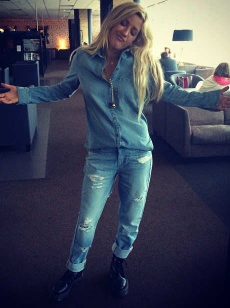 Ellie Goulding Double Denim