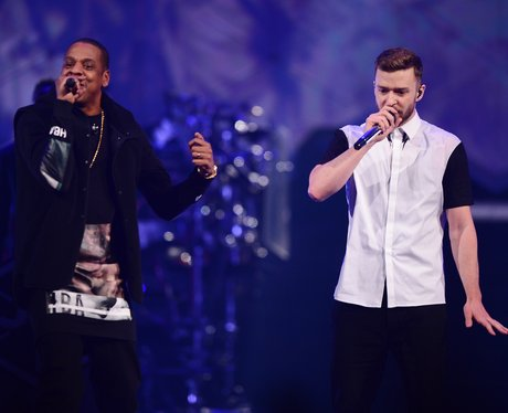 Jay Z and Justin Timberlake live
