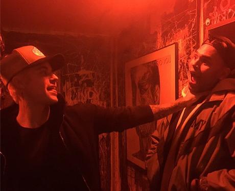 Justin Bieber and Chris Brown