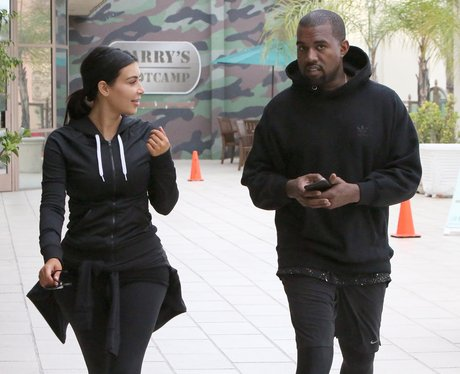 Kim Kardashian and Kanye West Exercise Clothes