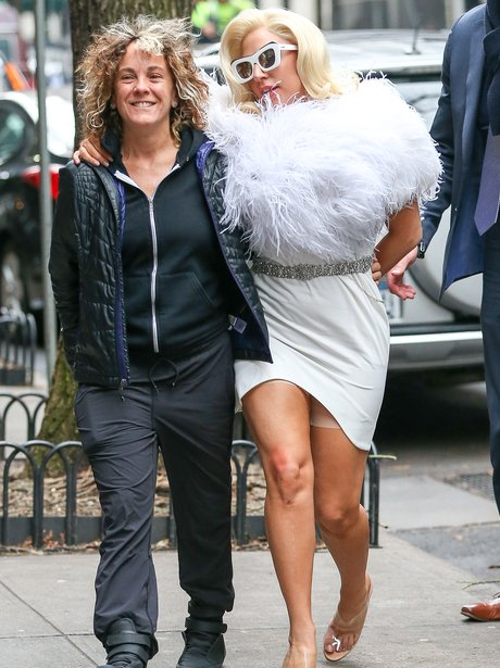 Lady Gaga wearing spanx