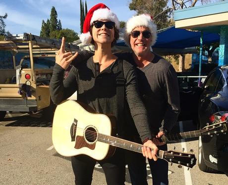 Ashton Irwin Christmas Hat Instagram