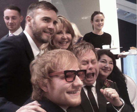 Ed Sheeran at Elton Johns Wedding
