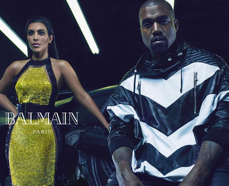 Kim and Kanye fashion shot