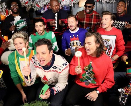 One Direction and Jimmy Fallon