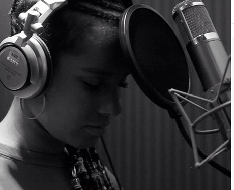 Alicia Keys in the Studio