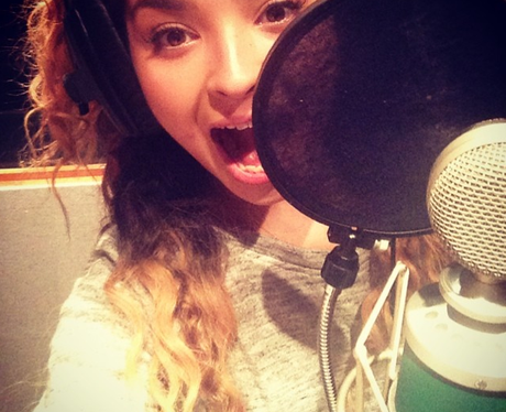 Ella Eyre in the studio