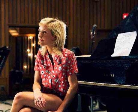Ellie Goulding on the piano