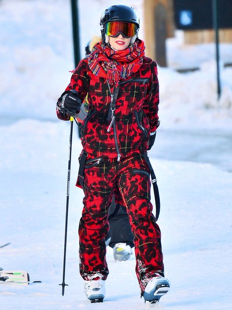 Gwen Stefani Holiday Skiing Snow