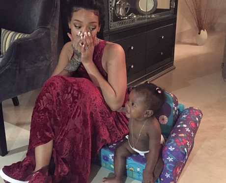 Rihanna and her niece on instagram