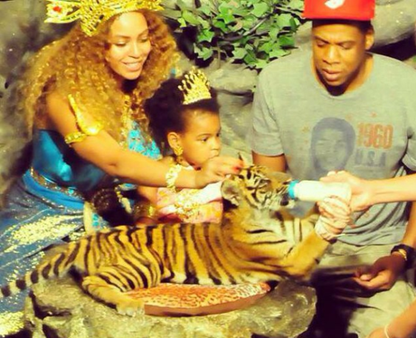 Beyonce, Jay Z, Blue Ivy and Tiger