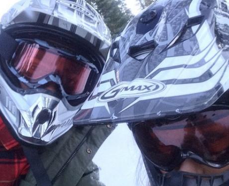 Big Sean and Ariana Grande holiday Tahoe