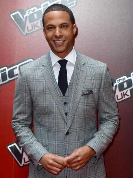 Marvin Humes attends The Voice launch