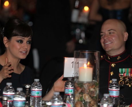 Mila Kunis attends Marine Corps Ball