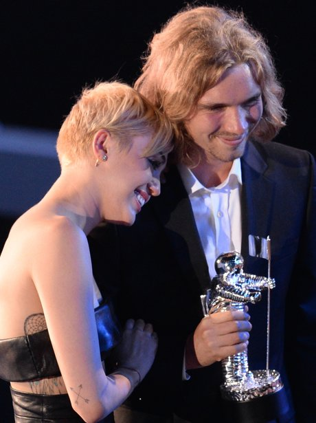 Miley Cyrus and Jesse Helt VMA's 2014
