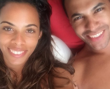 Rochelle and Marvin Humes on holiday