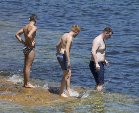 Sam Smith on holiday