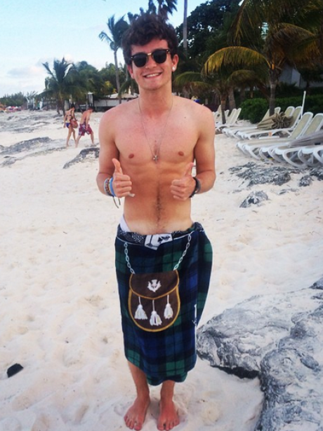 The Vamps Connor Ball Holiday Instagram