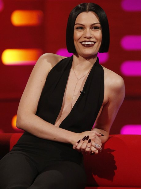 Jessie j filming the Graham Norton show