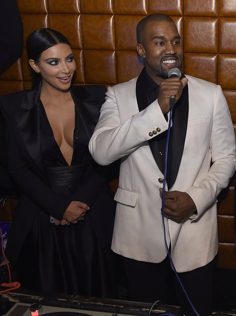 Kanye West Kim Kardashian at John Legends Birthday