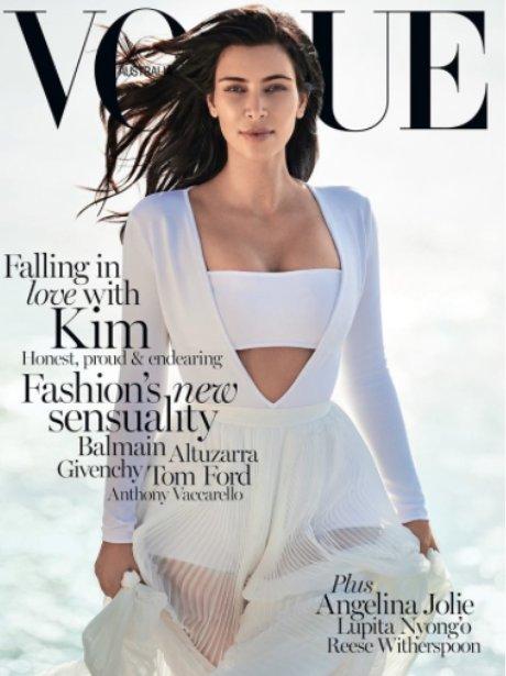 Kim Kardashian covers Vogue Magazine