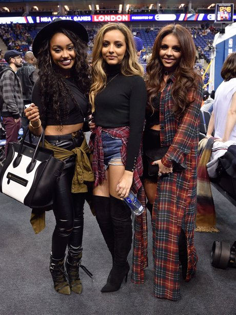Little Mix at the basketball