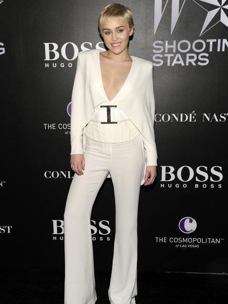 Miley Cyrus White Jumpsuit