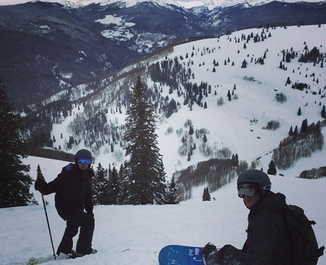 Nick Jonas Skiing