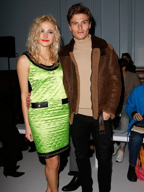 Oliver Cheshire and Pixie Lott Mens Fashion Week