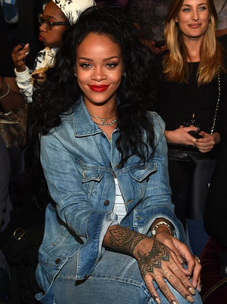 Rihanna wearing Double Denim