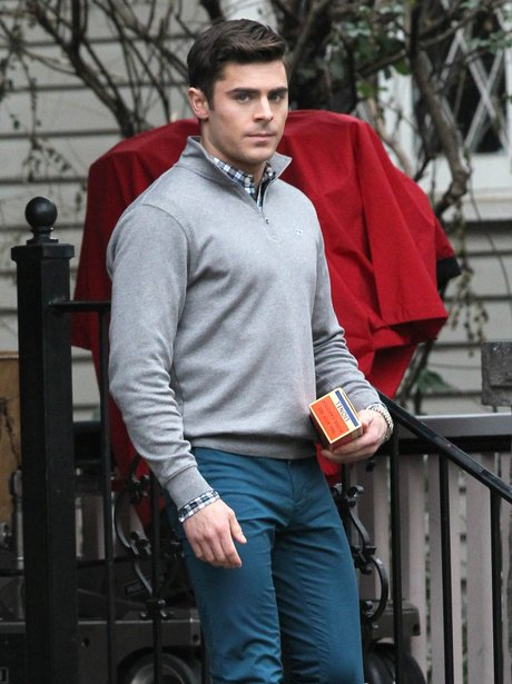 Zac Efron on set Dirty Grandpa