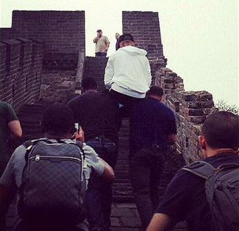 Justin Bieber Great Wall of China