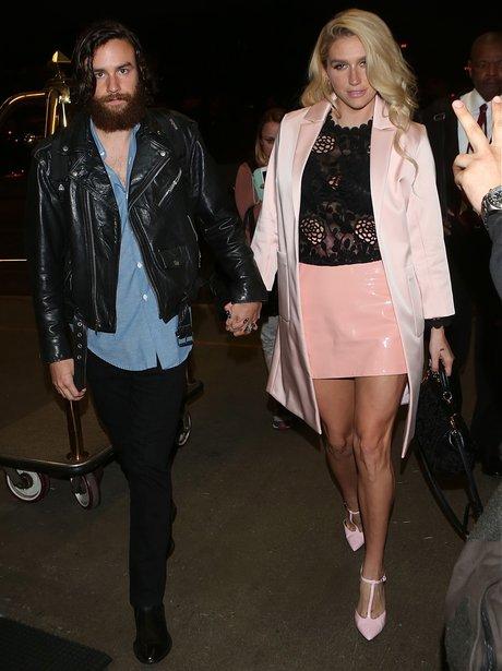 Kesha with her boyfriend Brad