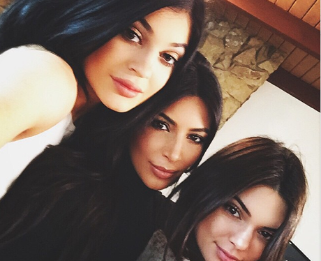 Kim, Kylie and Kendall Selfie