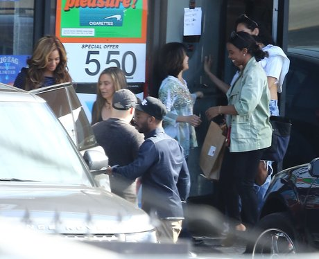 Beyonce and Kelly Rowland family lunch