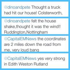 earthquake tweets