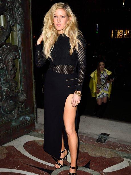 Ellie Goulding  attending Versace Spring Summer