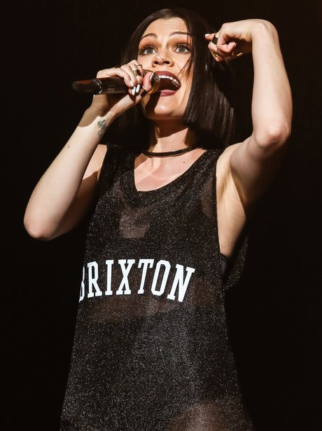 Jessie J perfomning in Brixton