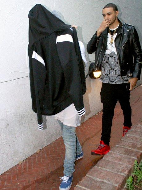 Justin Bieber hiding