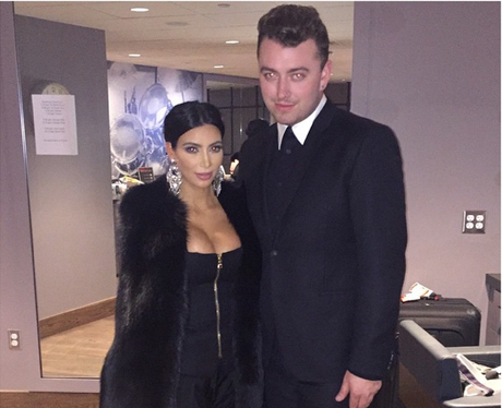 Kim Kardashian and Sam Smith
