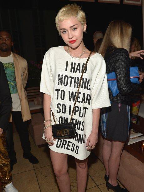 Miley Cyrus Moschino Dress